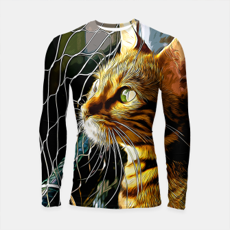 Thumbnail image of gxp bengal cat yearns for freedom vector art Longsleeve rashguard , Live Heroes