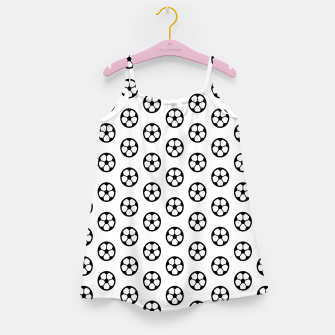 Thumbnail image of Simple Soccer Ball Motif Pattern Girl's dress, Live Heroes