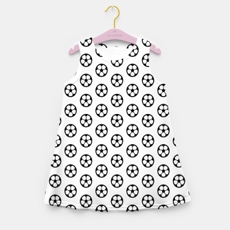 Thumbnail image of Simple Soccer Ball Motif Pattern Girl's summer dress, Live Heroes