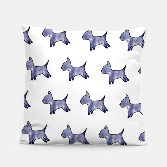 Thumbnail image of Blue dog print Pillow, Live Heroes