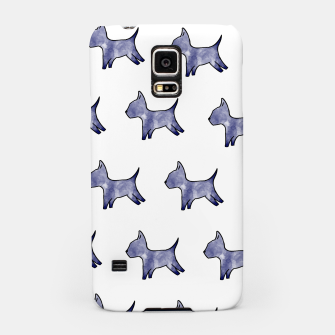 Thumbnail image of Blue dog print Samsung Case, Live Heroes