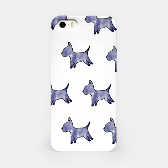 Thumbnail image of Blue dog print iPhone Case, Live Heroes