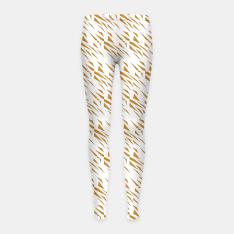 Thumbnail image of GIRLS leggings gold-white Triangles, Live Heroes