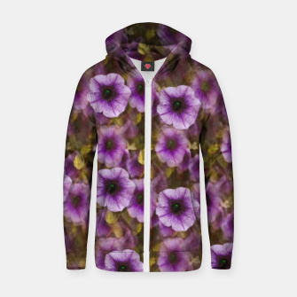 Miniatur The sky is not the limit for a floral delight Cotton zip up hoodie, Live Heroes