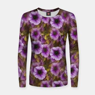 Miniatur The sky is not the limit for a floral delight Woman cotton sweater, Live Heroes