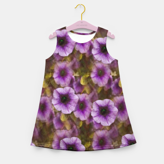Miniatur The sky is not the limit for a floral delight Girl's summer dress, Live Heroes