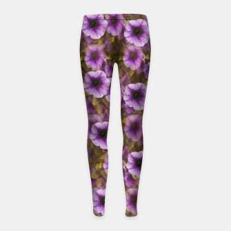 Miniatur The sky is not the limit for a floral delight Girl's leggings, Live Heroes