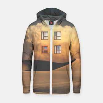 Thumbnail image of Looking Out Cotton zip up hoodie, Live Heroes