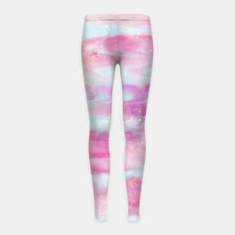 Thumbnail image of Beautiful Abstract paint Girl's leggings, Live Heroes