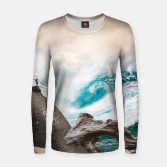 Thumbnail image of Wanderlust Woman cotton sweater, Live Heroes