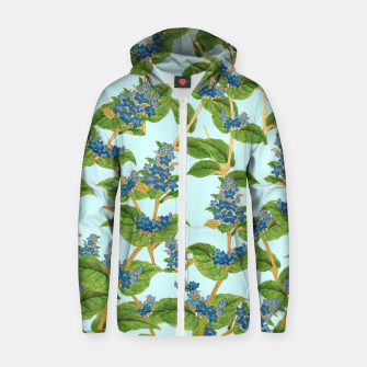 Thumbnail image of Wisteria Cotton zip up hoodie, Live Heroes