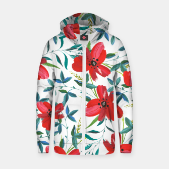 Thumbnail image of Red Blossom Cotton zip up hoodie, Live Heroes