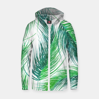 Thumbnail image of Bed Head Palm | Cotton zip up hoodie, Live Heroes