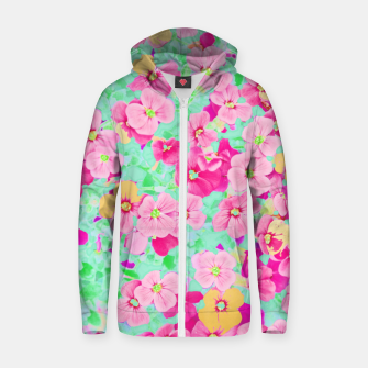 Thumbnail image of Oh Darling Cotton zip up hoodie, Live Heroes