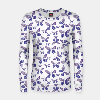 Thumbnail image of Butterfly Drawing Pattern Woman cotton sweater, Live Heroes