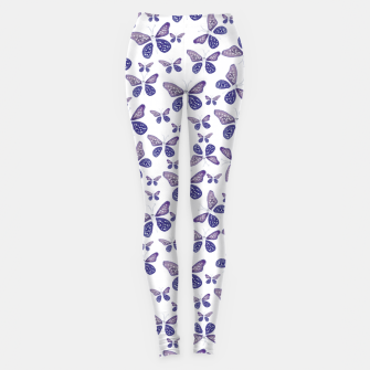 Thumbnail image of Butterfly Drawing Pattern Leggings, Live Heroes