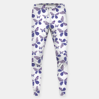 Thumbnail image of Butterfly Drawing Pattern Cotton sweatpants, Live Heroes