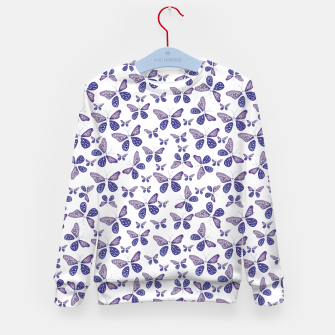 Thumbnail image of Butterfly Drawing Pattern Kid's sweater, Live Heroes