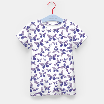 Thumbnail image of Butterfly Drawing Pattern Kid's t-shirt, Live Heroes