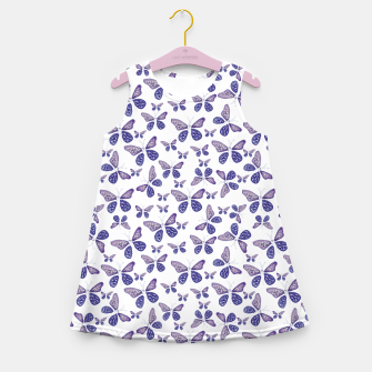 Thumbnail image of Butterfly Drawing Pattern Girl's summer dress, Live Heroes