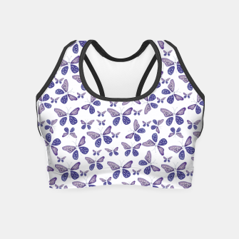 Thumbnail image of Butterfly Drawing Pattern Crop Top, Live Heroes