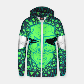Thumbnail image of mushroom man Cotton zip up hoodie, Live Heroes