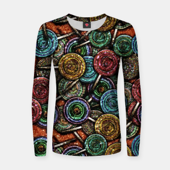 Thumbnail image of Glitter Lollipop Womens Sweater, Live Heroes