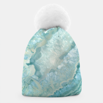 "Miniaturka ""Aquamarine Pastel and Teal Agate Crystal"" Gorro, Live Heroes"