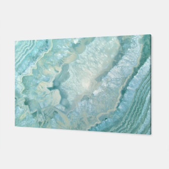 "Miniaturka ""Aquamarine Pastel and Teal Agate Crystal"" Canvas, Live Heroes"
