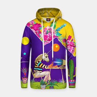 Thumbnail image of Lonely unicorn Cotton hoodie, Live Heroes