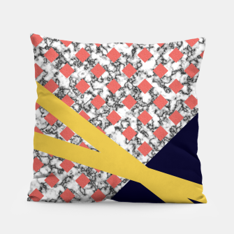 Thumbnail image of Geometric Composition Pillow, Live Heroes