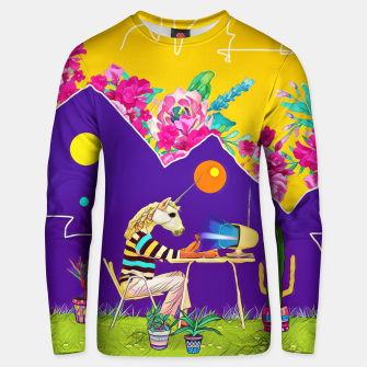 Thumbnail image of Lonely unicorn Cotton sweater, Live Heroes