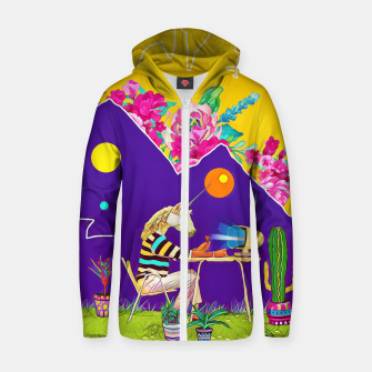Thumbnail image of Lonely unicorn Cotton zip up hoodie, Live Heroes