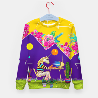Thumbnail image of Lonely unicorn Kid's sweater, Live Heroes