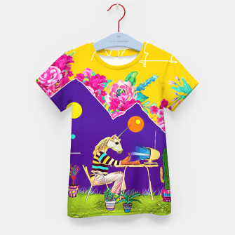 Thumbnail image of Lonely unicorn Kid's t-shirt, Live Heroes
