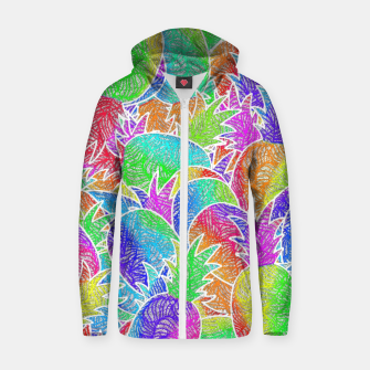 Thumbnail image of ananas Cotton zip up hoodie, Live Heroes