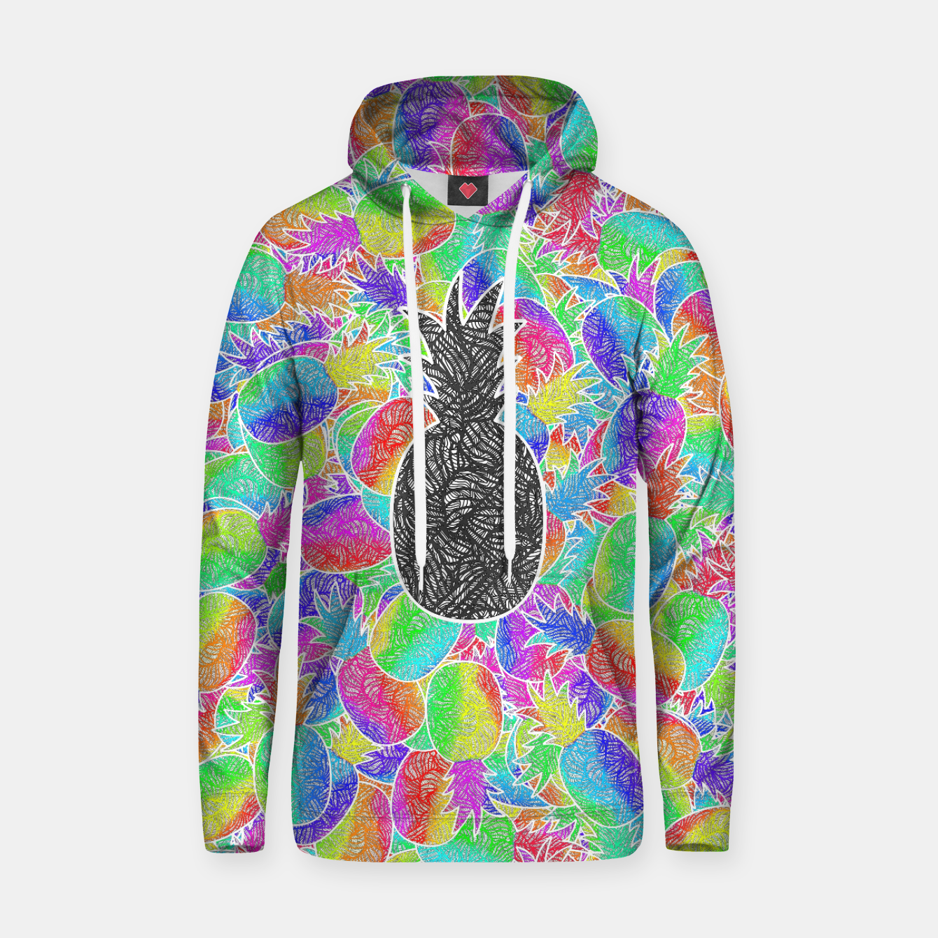 Image of ananas Cotton hoodie - Live Heroes
