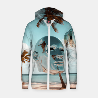 Thumbnail image of Ancient Technology Cotton zip up hoodie, Live Heroes