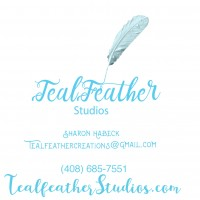 Teal feather creations logo