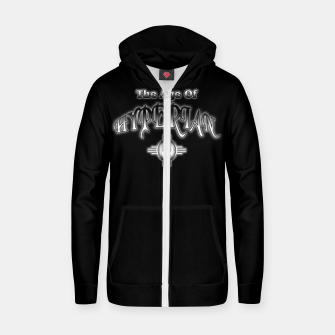 Thumbnail image of The Age Of Hyperian ESM Cotton zip up hoodie, Live Heroes