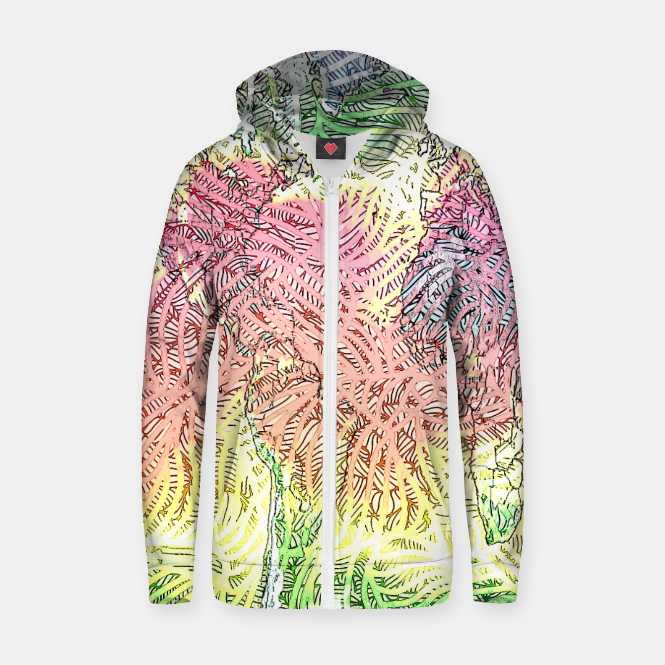 Image of world Cotton zip up hoodie - Live Heroes