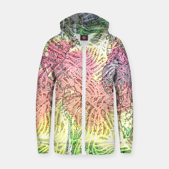 Thumbnail image of world Cotton zip up hoodie, Live Heroes
