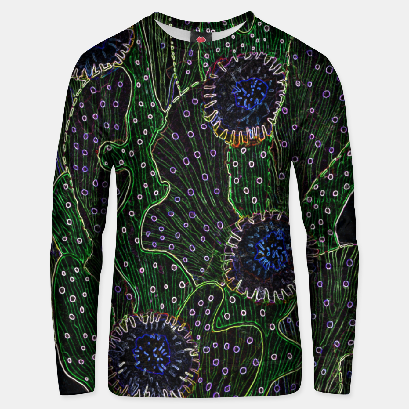 Image of Blooming Cactus, Black & Neon Cotton sweater - Live Heroes