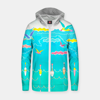 Thumbnail image of Seagulls  Cotton zip up hoodie, Live Heroes