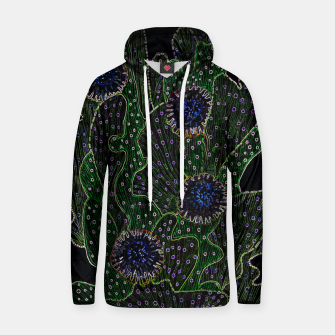Thumbnail image of Blooming Cactus, Black & Neon Cotton hoodie, Live Heroes