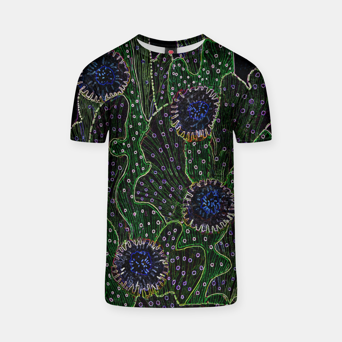 Image of Blooming Cactus, Black & Neon T-shirt - Live Heroes