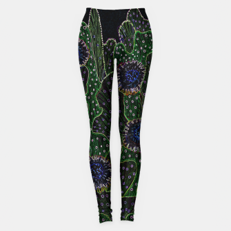 Thumbnail image of Blooming Cactus, Black & Neon Leggings, Live Heroes