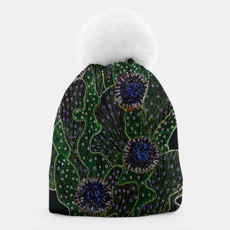 Thumbnail image of Blooming Cactus, Black & Neon Beanie, Live Heroes