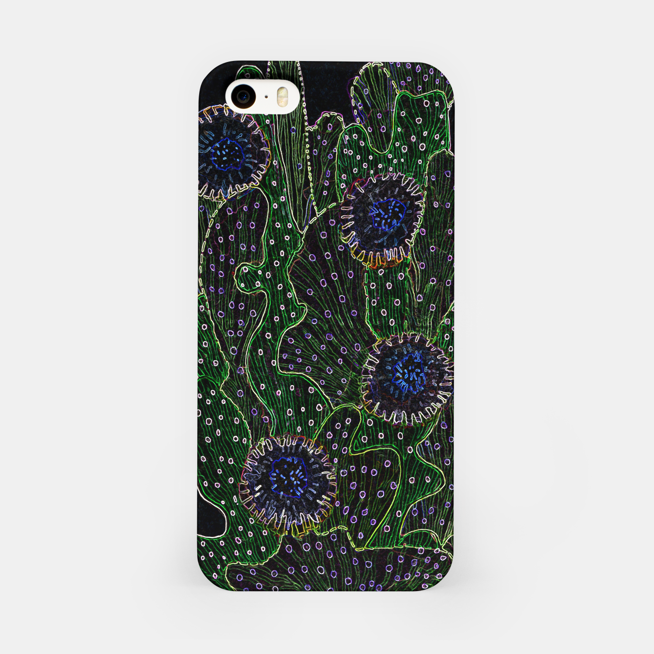 Image of Blooming Cactus, Black & Neon iPhone Case - Live Heroes