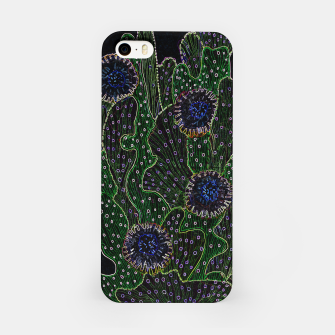Blooming Cactus, Black & Neon iPhone Case thumbnail image